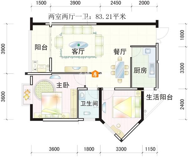 九龙·太阳城二期户型图-8