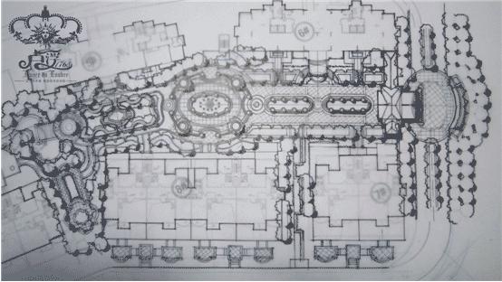 项目体验中心园林手绘草稿