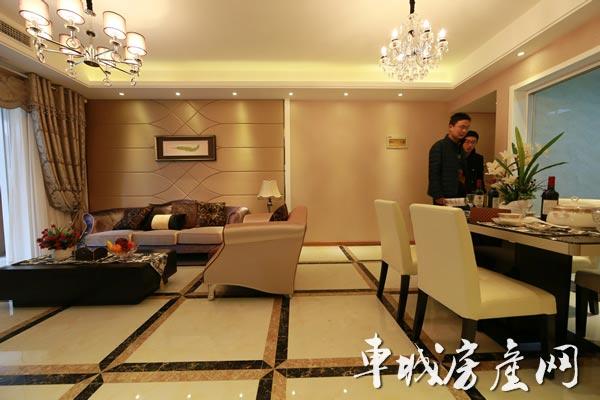 上海路·金座85㎡欧式装修风格样板间赏析