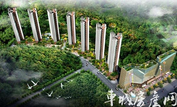 3万平米新中式水景园林,粉墙黛瓦,画栋雕梁,曲水流觞,步换景移.图片