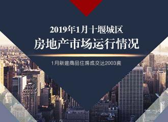 2019年1月十堰城区房地产市场运行情况