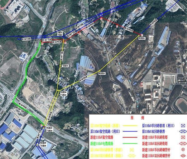 十堰市万亩工业园110kV李红线34#-36#迁改工程规划方案公示