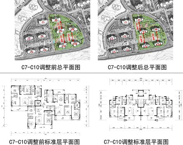"""关于""""十堰中瑞置业有限公司七里垭安置区 C地块调整方案""""公示"""