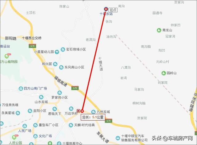 十堰高铁东站位置