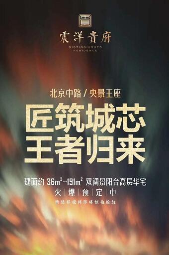 北京中路,央景王座,震洋贵府正在火爆预定中