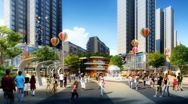 四方新城商业效果图