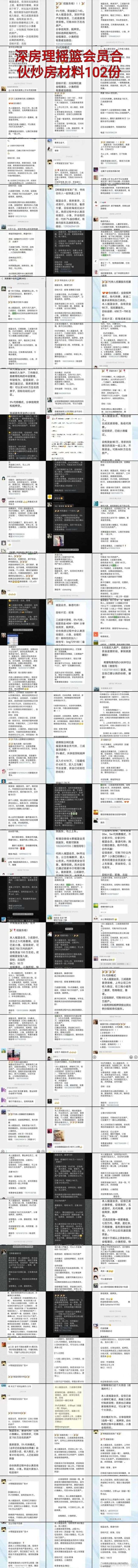 触目惊心!深圳炒房团102份炒房材料曝光