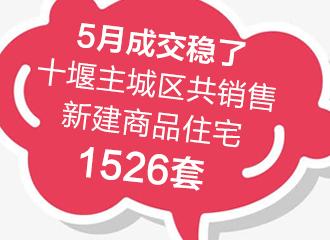 5月成交稳了,十堰主城区共销售新建商品住宅1526套