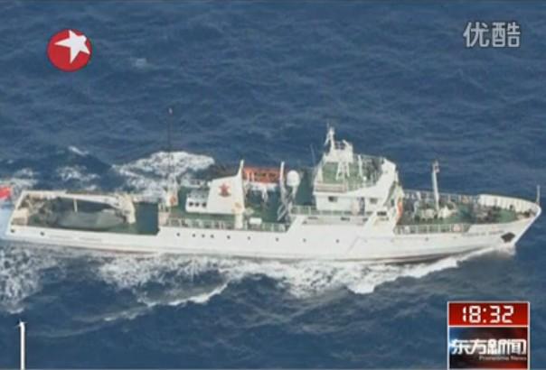 中国11艘公务船驶抵钓鱼岛 强硬要求日舰驶离